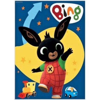 Dětská fleecová deka Zajíček Bing Bunny - modrá
