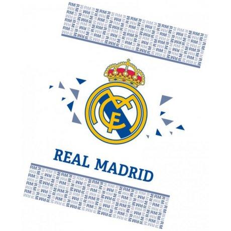 Fotbalová fleecová deka FC Real Madrid - White