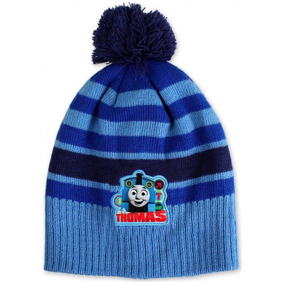 Chlapecká zimní čepice Lokomotiva Tomáš - sv. modrá