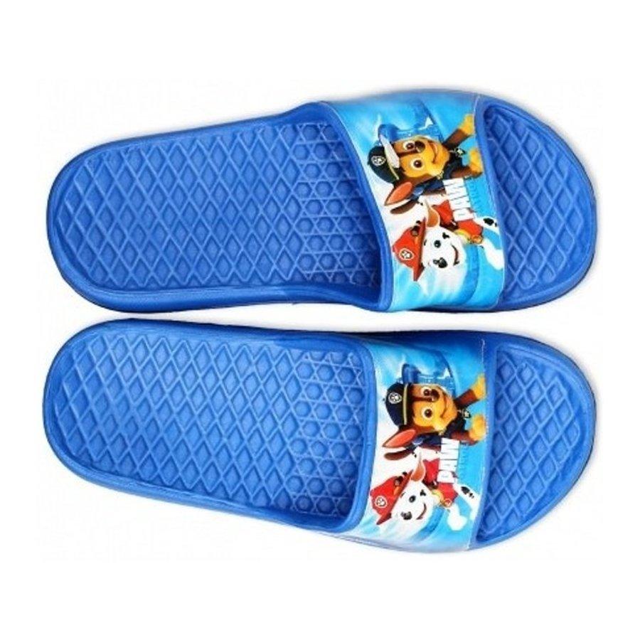 Chlapecké gumové pantofle Tlapková patrola - sv. modré