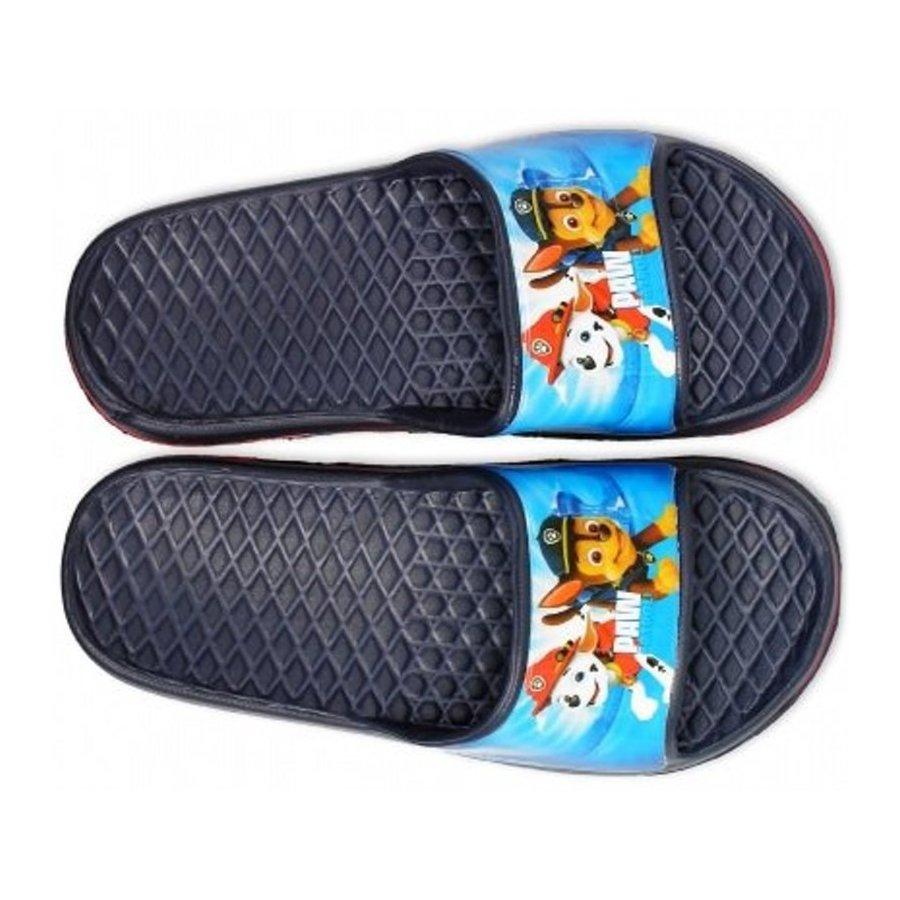 Chlapecké gumové pantofle Tlapková patrola - tm. modré
