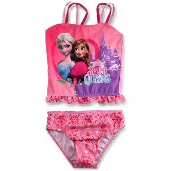 Dívčí dvoudílné plavky Ledové království - Sister Queens - sv. růžové