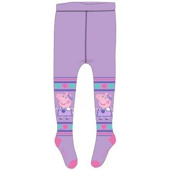 Dívčí punčocháče Prasátko Peppa - fialové