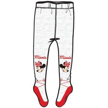Dívčí punčocháče Minnie Mouse - bílo / červené