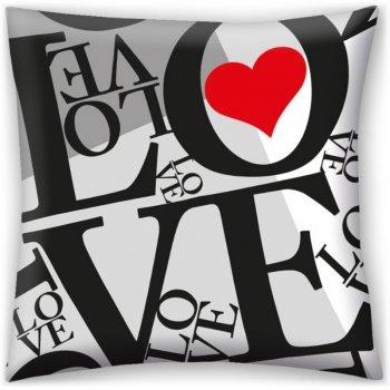 Dekorační polštář ♡ LOVE ♡