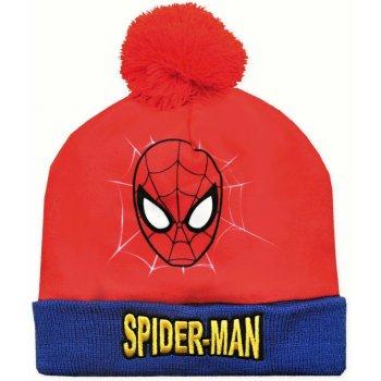 Chlapecká zimní čepice s bambulí Spider-Man