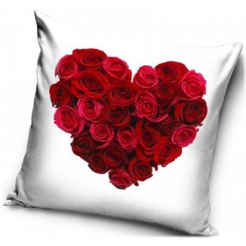 Povlak na polštář Srdce z růží