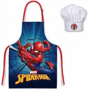 Dětská zástěra s kuchařskou čepicí Spiderman