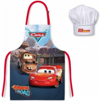 Dětská zástěra s kuchařskou čepicí Auta - Blesk McQueen