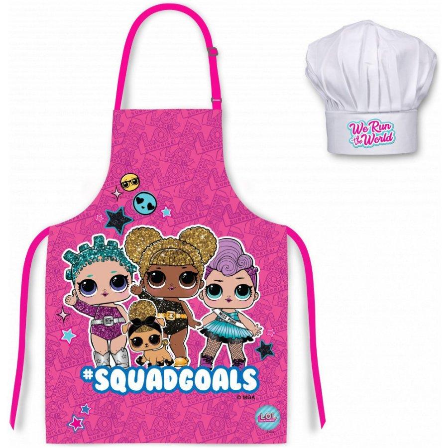 Dětská zástěra s kuchařskou čepicí L.O.L. Surprise