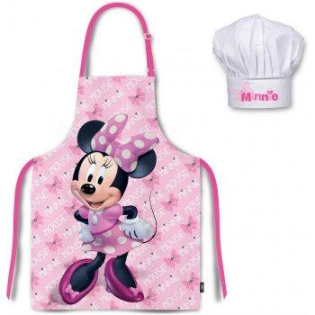 Dětská zástěra s kuchařskou čepicí Minnie Mouse - Disney - sv. růžová