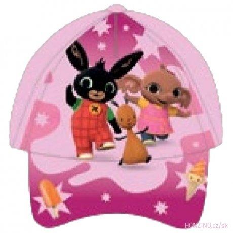 Dívčí kšiltovka Zajíček Bing - světle růžová