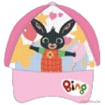 Dětská kšiltovka Zajíček Bing  s překlápěcími flitry - růžová