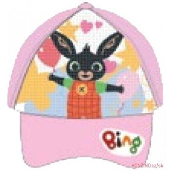 Dětská kšiltovka Zajíček Bing  s překlápěcími flitry - světle růžová