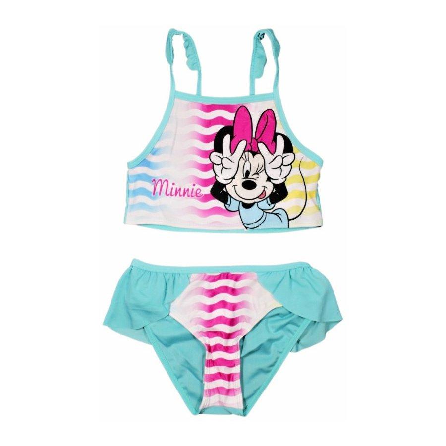 Dívčí dvoudílné plavky Minnie Mouse - Disney - tyrkysové