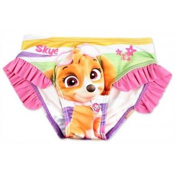 Dívčí plavkové kalhotky Tlapková patrola - sv. růžové