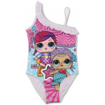 Dívčí jednodílné plavky L.O.L. Surprise - bílé