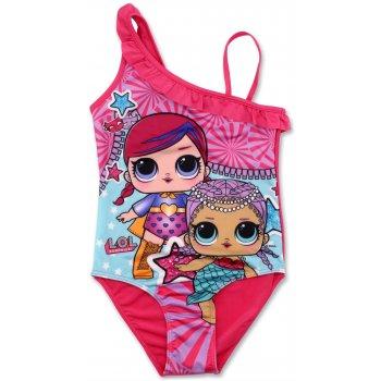 Dívčí jednodílné plavky L.O.L. Surprise - růžové