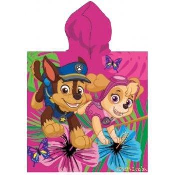 Dívčí pončo - osuška s kapucí Tlapková patrola - Paw Patrol