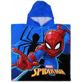 Dětské plážové pončo - osuška s kapucí Spiderman - MARVEL