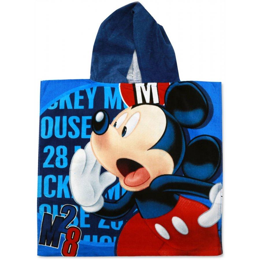 Dětské plážové pončo - osuška s kapucí Mickey Mouse - Disney