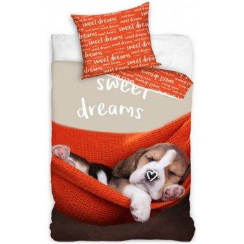 Bavlněné ložní povlečení štěňátko - Sweet dreams