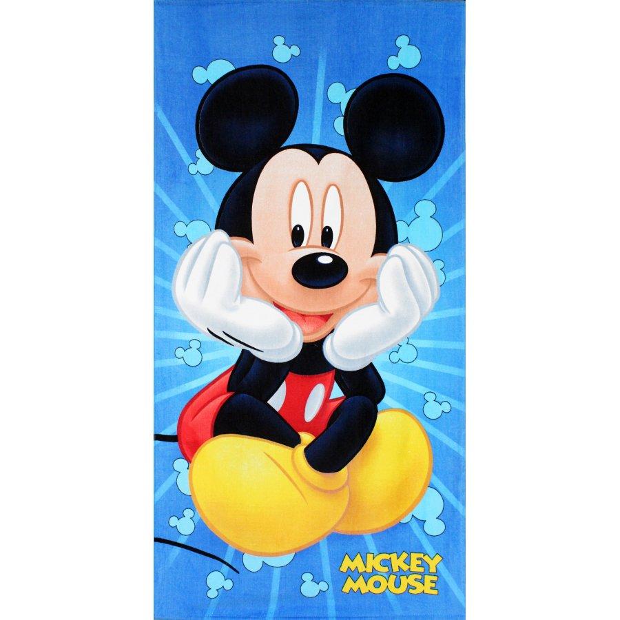 Setino · Bavlněná plážová osuška Mickey Mouse - Disney - 100% bavlna - 70 x 140 cm