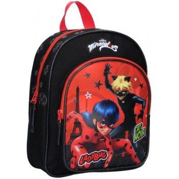 Dětský batoh s přední kapsou Kouzelná beruška a černý kocour