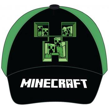 Kšiltovka Minecraft - černo / zelená