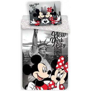 Bavlněné povlečení Mickey & Minnie Mouse in New York