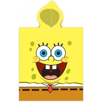 Dětské plážové pončo - osuška s kapucí SpongeBob