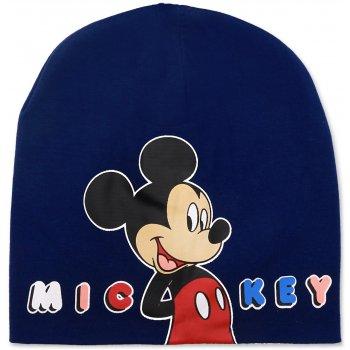 Chlapecká jarní / podzimní čepice Mickey Mouse - tm. modrá