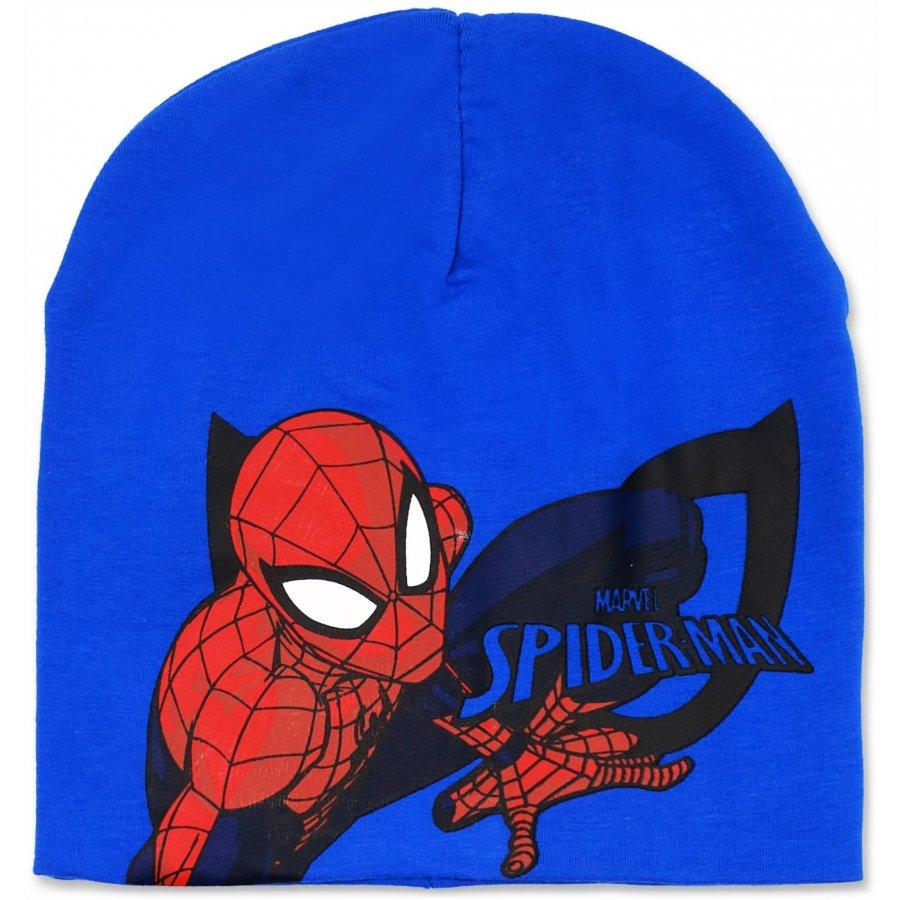 Chlapecká jarní / podzimní čepice Spiderman - tm. modrá