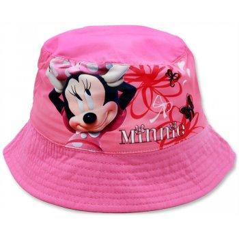 Dětský klobouk Minnie Mouse - tm. růžový