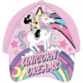 Dívčí kšiltovka Minnie Mouse - Unicorn Dreams - světle růžová