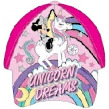 Dívčí kšiltovka Minnie Mouse - Unicorn Dreams - tmavě růžová