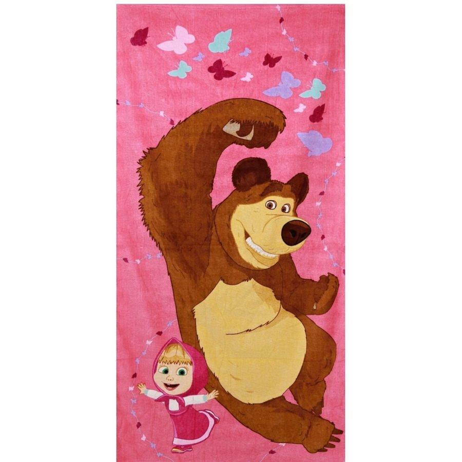 Dívčí plážová osuška Máša a medvěd