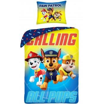 Bavlněné ložní povlečení Tlapková patrola - Calling all pups