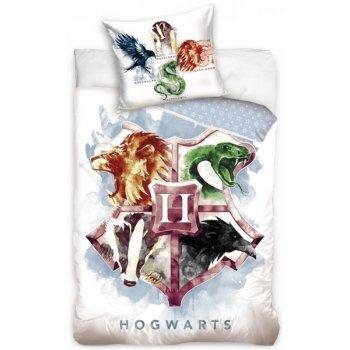 Bavlněné ložní povlečení Harry Potter - erb Hogwarts
