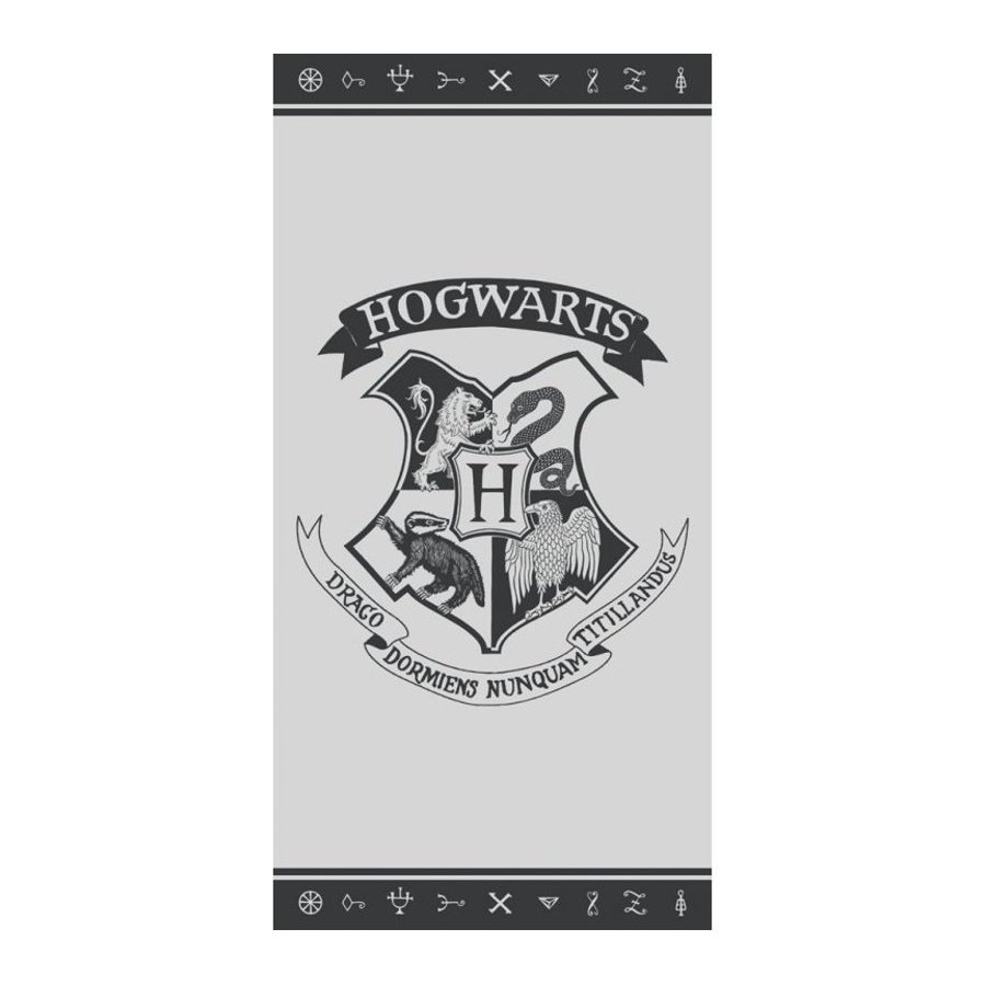 Carbotex · Plážová osuška Harry Potter - erb Hogwarts - 100% bavlna, froté 300 gr./m² - 70 x 140 cm