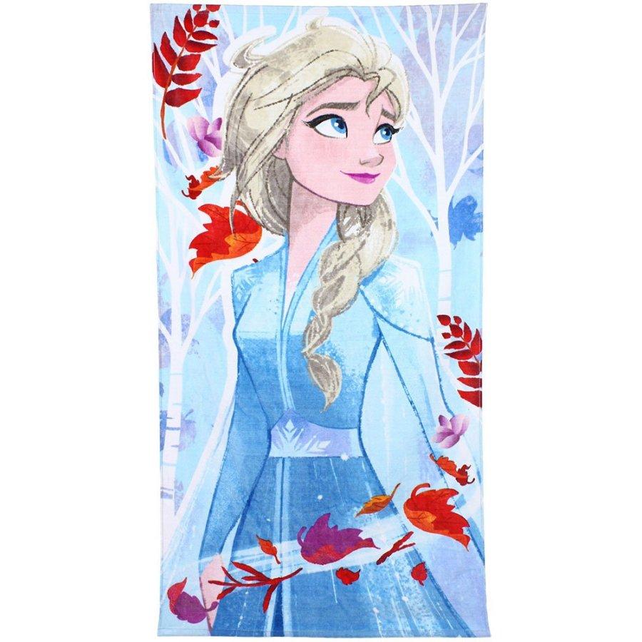 Setino · Bavlněná plážová osuška Ledové království 2 - Frozen 2 - Elsa - 100% bavlna, froté 290 gr./m2 - 70 x 140 cm