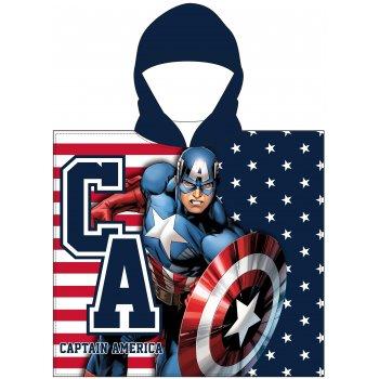Chlapecké pončo - osuška s kapucí Kapitán Amerika - Avengers