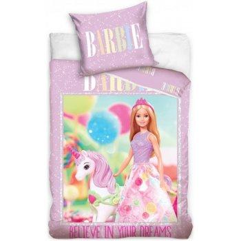 Bavlněné ložní povlečení Barbie a Jednorožec