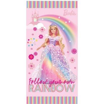 Plážová osuška Barbie - Duhová princezna