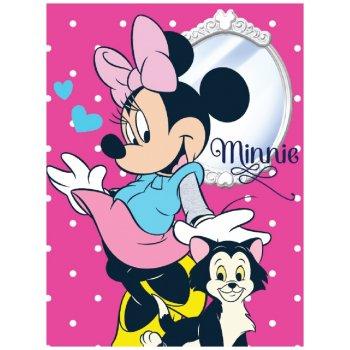 Velká fleecová deka Minnie Mouse - Disney - růžová