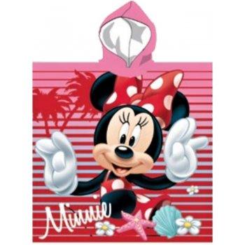 Dívčí plážové pončo - osuška s kapucí Minnie Mouse - Disney