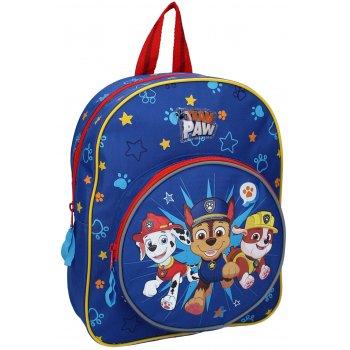Dětský batoh s přední kulatou kapsou Tlapková patrola