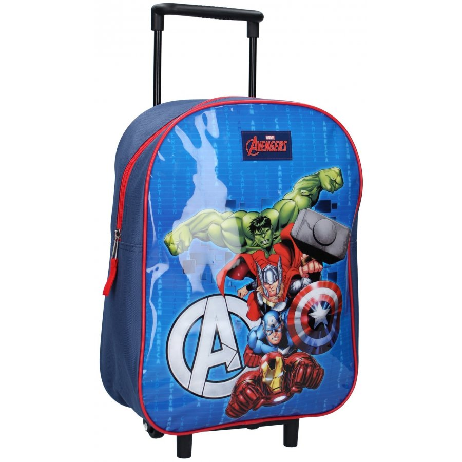 Vadobag · Dětský cestovní kufr na kolečkách / trolley Avengers - MARVEL - motiv Bring the Thunder - 15L