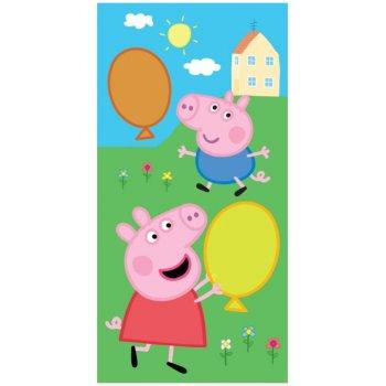 Dětský ručník Prasátko Peppa, George a balónky