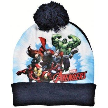 Chlapecká zimní čepice s bambulí Avengers - černá